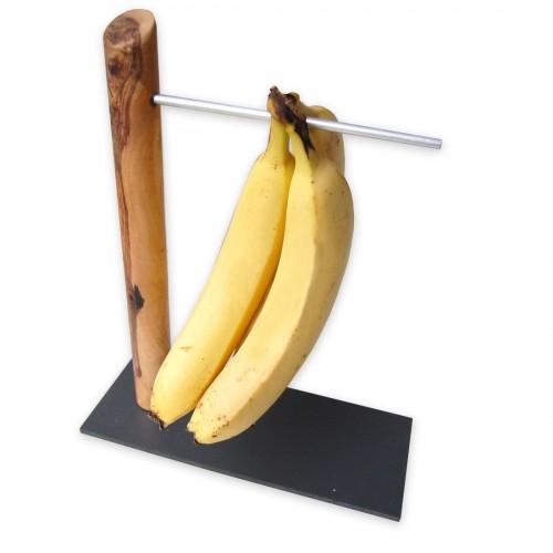 Bananenhalter aus Olivenholz - Öko Bananenständer | D.O.M.