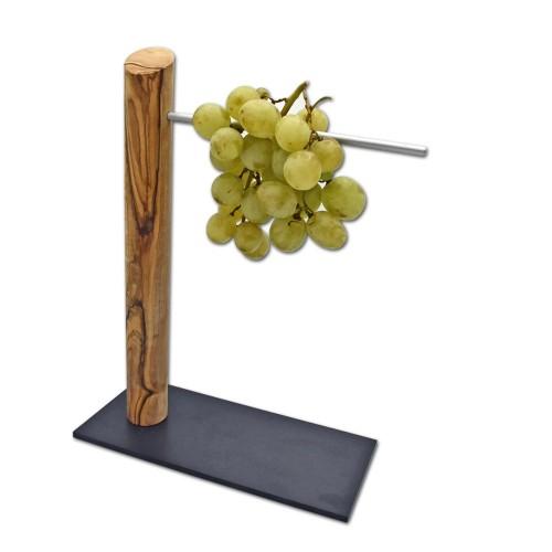 Weintraubenhalter aus Olivenholz - Öko Tischaccessoire   D.O.M.