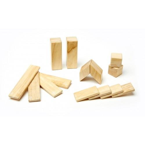 Magnetische Holzblöcke 14-teilig, natur