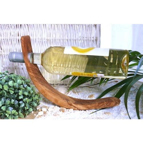 Weinflaschenhalter MOND aus Olivenholz | Olivenholz erleben