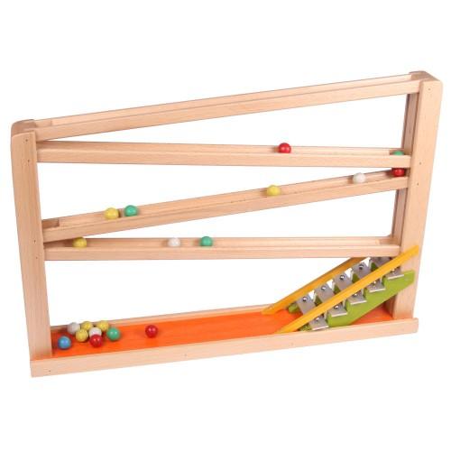 Holz Kugelbahn mit Glockenspiel II