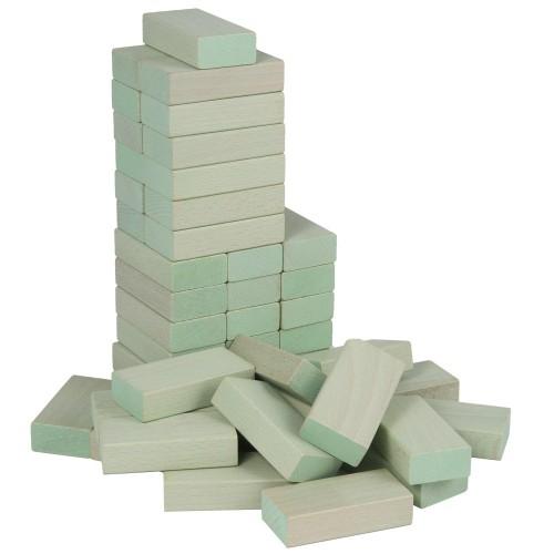 Fröbel-Bausteine aus Buchenholz, Pastellgrün