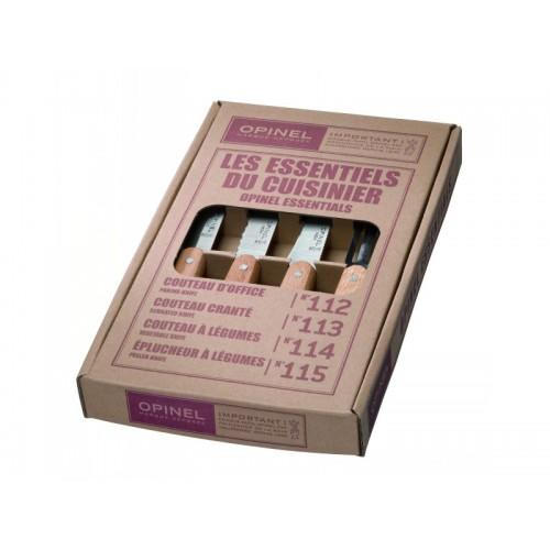 Opinel Küchenmesser-Set, Essentials - 4-teilig