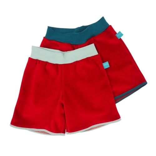 Bio Nicki Shorts Rot mit Kontrastbund » bingabonga