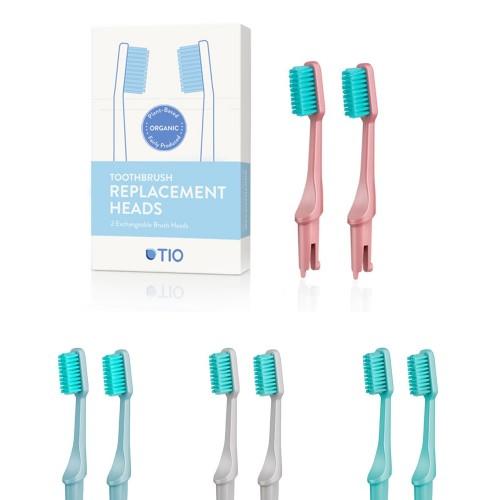 TIO Wechselköpfe 2er Pack für Bio Zahnbürste | TIOcare