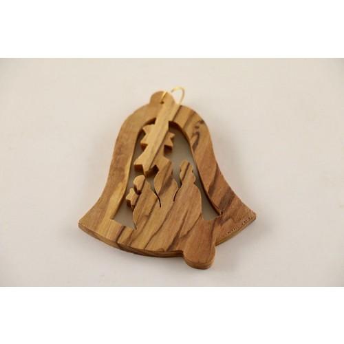 Christbaumschmuck »Glocke Drei Könige« aus Olivenholz