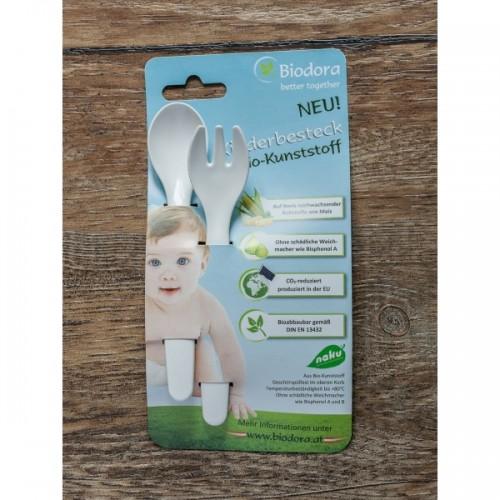 Kinderbesteck 2er Set aus Biokunststoff
