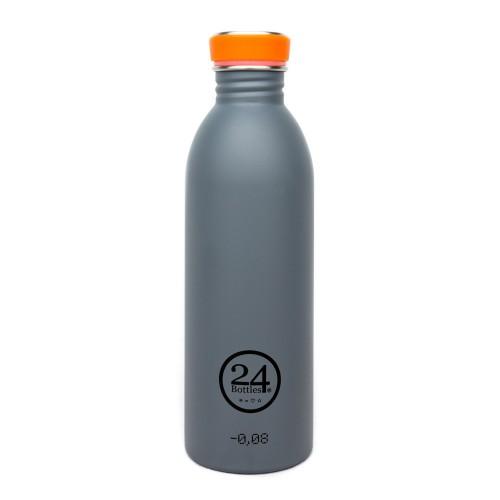 Edelstahl Trinkflasche 0,5L - formal grey | 24Bottles