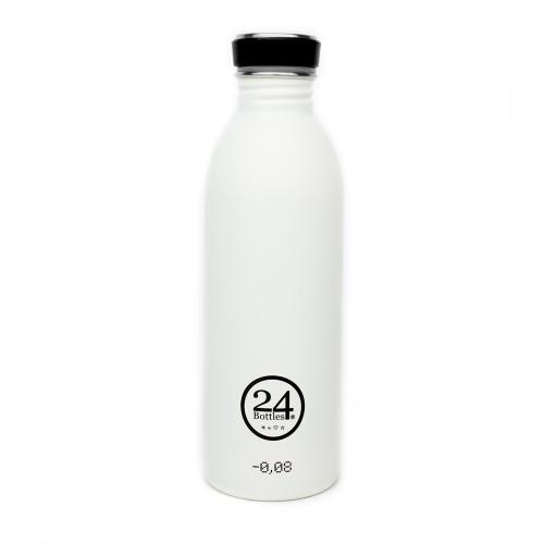 Edelstahl Trinkflasche 0,5L ice white | 24Bottles