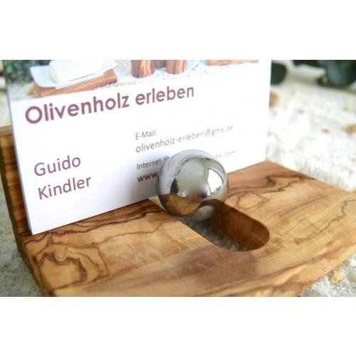 Visitenkartenständer aus Olivenholz | Olivenholz erleben