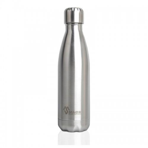 Made Sustained Edelstahlflasche Silber gebürstet 750 ml