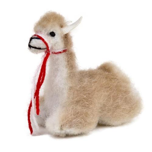Vicuna Stella 100% Schafswolle, niedliche Dekofigur | AlpacaOne