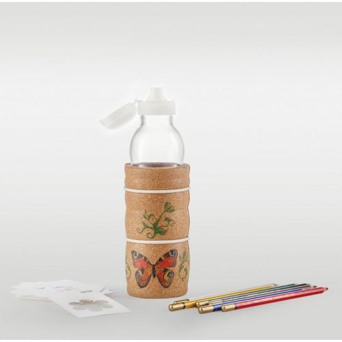 THANK YOU Kids Trinkflasche mit Korkhülle | Nature's Design