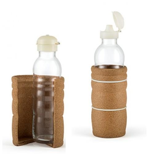 Nature's Design THANK YOU Trinkflasche mit Naturkorkhülle & Trinkdüse
