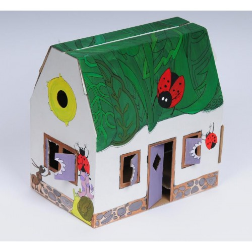 Bastelspaß: Papphäuser aus recyclingfähiger Pappe