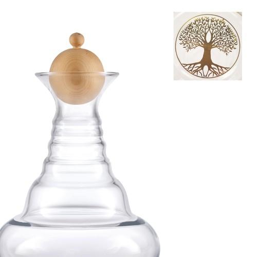 Alladin Karaffe Lebensbaum gold 1,3 Liter & Zirbenholzdeckel