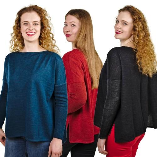 Pullover Jessica 100% Premium Baby Alpaka für Damen | AlpacaOne