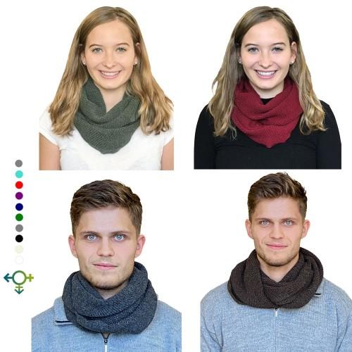 Albwolle Alpaka Loopschal für Damen & Herren, viele Farben