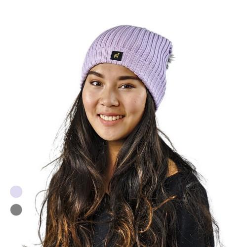 Alpaka Mütze Damen Sally One Size mit Bommel | AlpacaOne