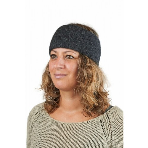 Alpaka Basic Stirnband Aspen Anthrazit für Damen & Herren | AlpacaOne