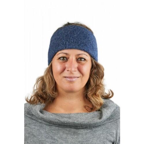Alpaka Basic Stirnband Aspen Jeansblau für Damen & Herren | AlpacaOne