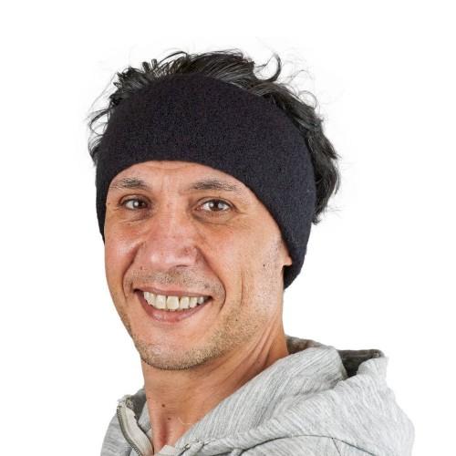 Alpaka Basic Stirnband Aspen Schwarz für Damen & Herren | AlpacaOne