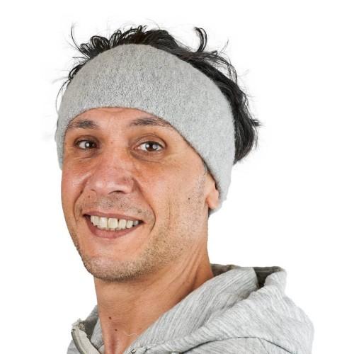 Alpaka Basic Stirnband Aspen Silbergrau für Damen & Herren | AlpacaOne