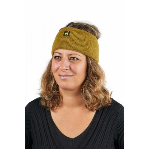 Alpaka Stirnband Malbun Slim Senfgelb | AlpacaOne