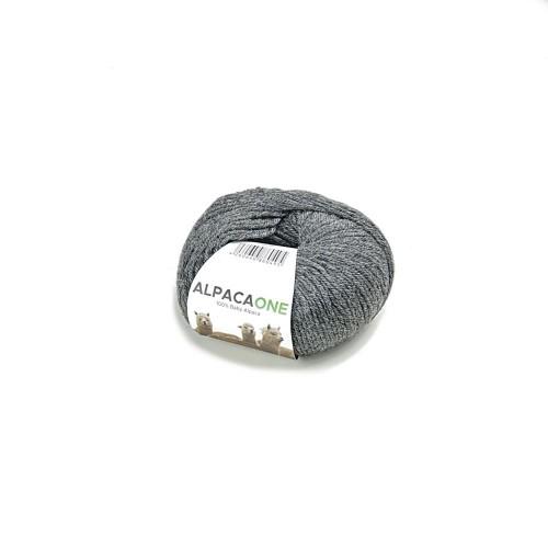Alpacaone Baby Alpaka Wolle Knäuel 50g mittelgrau OEKO-TEX