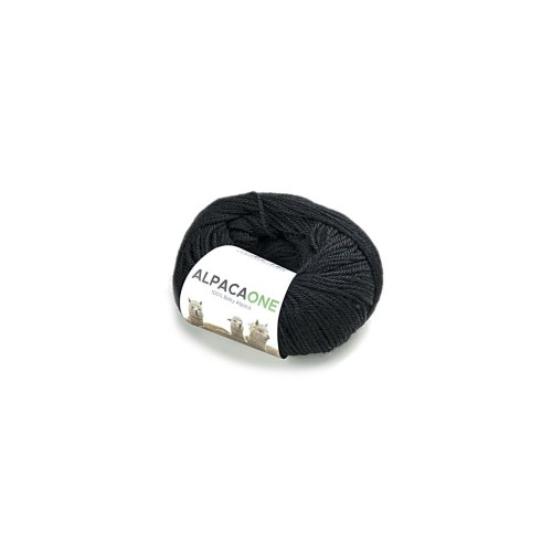 Alpacaone Baby Alpaka Wolle Knäuel 50g schwarz OEKO-TEX