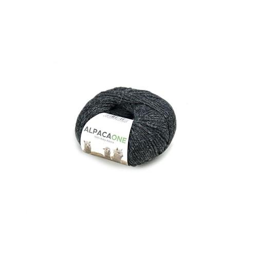 Alpacaone Baby Alpaka Wolle Knäuel 50g schwarz-grau OEKO-TEX