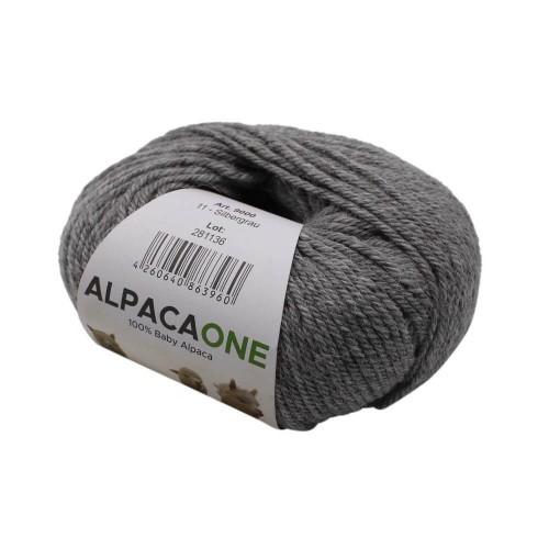 Alpacaone Baby Alpaka Wolle Knäuel 50g Silbergrau OEKO-TEX