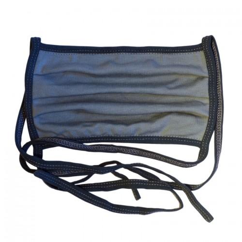 Waschbare Behelfs-Mund-Nasen-Maske Bio-Jersey Graublau | bingabonga