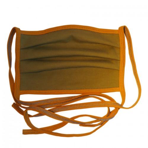bingabonga waschbare Behelfs-Mundbedeckung Bio-Jersey moosgrün