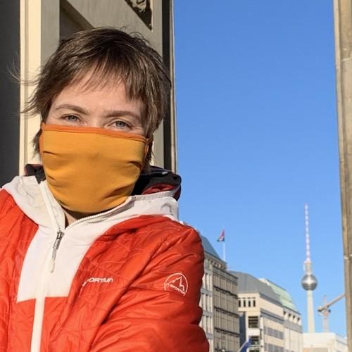 Waschbare Mund-Nasen-Schutzmaske Bio-Jersey   bingabonga