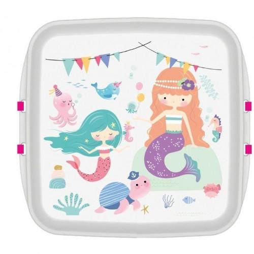 Biodora KIDS Lunchbox aus Biokunstoff - Meerjungfrau