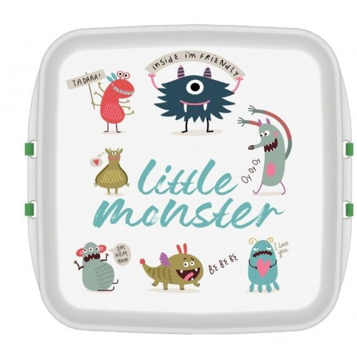 Biodora KIDS Lunchbox aus Biokunstoff - little Monster