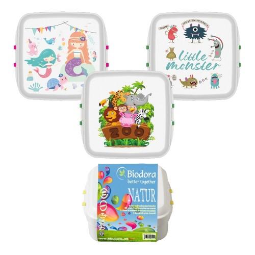 Biodora KIDS Lunchbox aus Biokunstoff - Öko Brotdose
