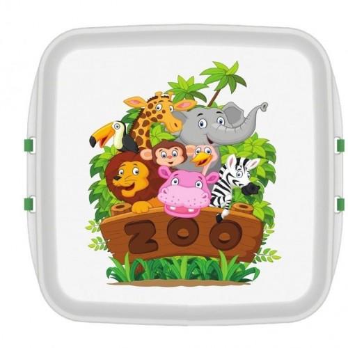 Biodora KIDS Lunchbox aus Biokunstoff - Zoo
