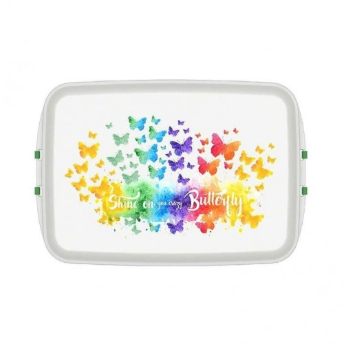 Lunchbox aus Biokunststoff mit Print Butterfly | Biodora