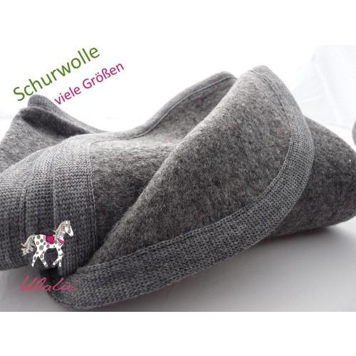 Baby Wolldecke, Bio Schurwolle, Grau/Grau | Ulalü
