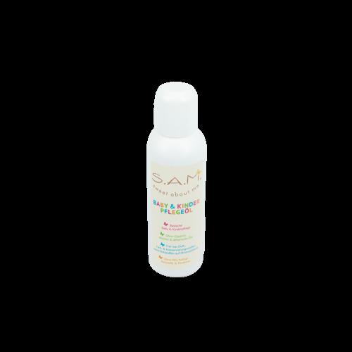 S.A.M. Baby & Kinder Pflegeöl mit Bio-Mandelöl & Aprikosenkernöl