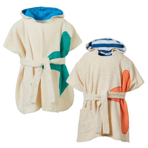 Bio-Frottee Kinder Badeponcho mit Kapuze | early fish