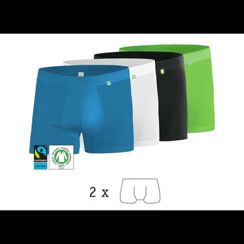 kleiderhelden 2er-Pack Boxershorts »Beatbux«, Bio-Baumwollstretch