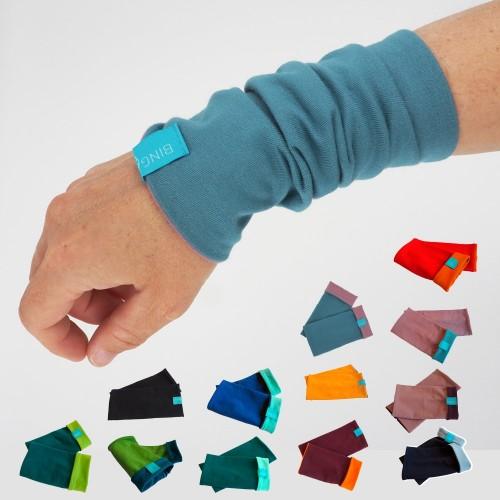 Bio Armstulpen Uni zweifarbig für Mädchen & Damen, viele Farben | bingabonga