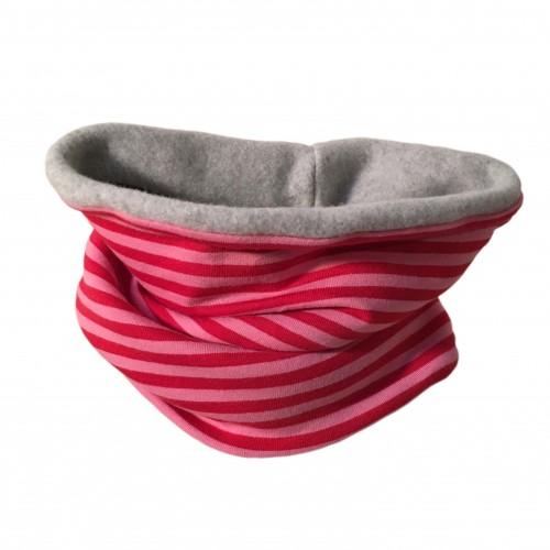 Winter Eco Cotton Loop Rosa/Pink geringelt | bingabonga