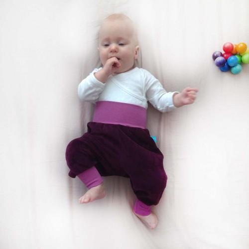 Baby Bio-Nicki Gemütlichkeitshose Aubergine/Lila | bingabonga