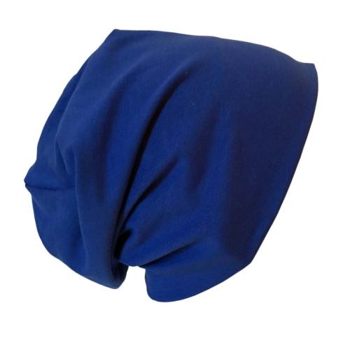"Bio Jersey Mütze ""Line"" Uni Royalblau | bingabonga"
