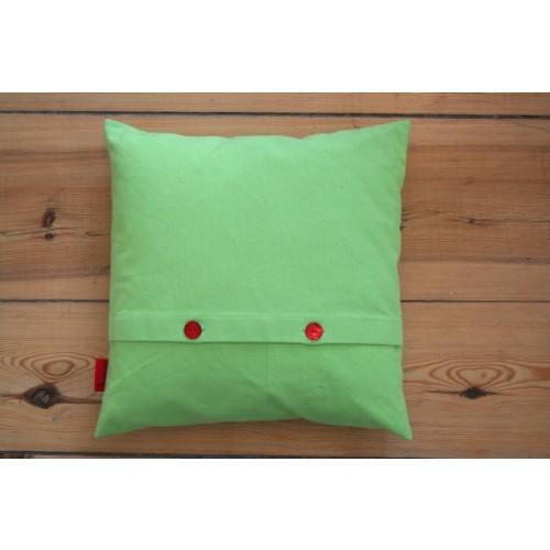 Kissenbezug Grün aus Bio-Baumwoll-Canvas 40x40 cm | ia io