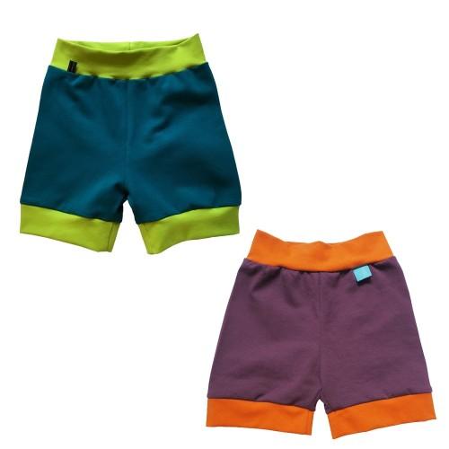 Leichte Baby Bio Jersey Shorts mit Kontrastbündchen | bingabonga